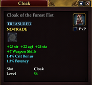 Cloak of the Forest Fist