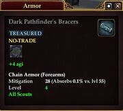 Dark Pathfinder's Bracers