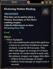 Flickering Molten Binding