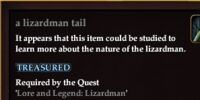 A lizardman tail