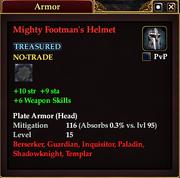 Mighty Footman's Helmet