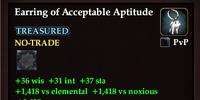 Earring of Acceptable Aptitude