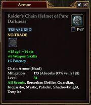 Raider's Chain Helmet of Pure Darkness