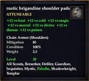 Rustic brigandine shoulder pads