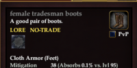 Female tradesman boots