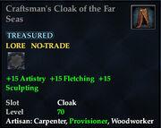 Craftsmans Cloak of the Far Seas