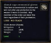 Dismal rage ceremonial gloves