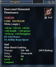 Enervated Elemental Dominance