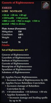 Gussets of Righteousness
