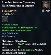 Exarch's Solemn Ceremony Plate Pauldrons of Oration