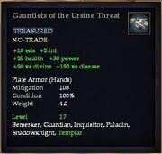 Gauntlets of the Ursine Threat
