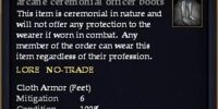 Arcane ceremonial officer boots