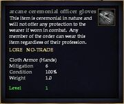 Arcane ceremonial officer gloves