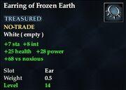 Earring of Frozen Earth