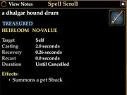 A dhalgar hound drum