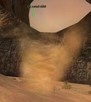 A sand whirl