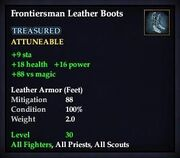 Frontiersman Leather Boots