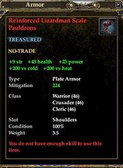 BladeHeroReinforcedLizardmanScalePauldrons