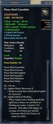 Pious Steel Gauntlets