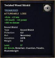 Twisted Wood Shield