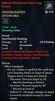 Imbued Blackened Iron Long Sword