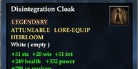 Disintegration Cloak
