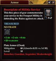 Breastplate of Militia Service