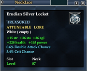 Erudian Silver Locket