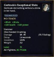 Gertrude's Exceptional Stein
