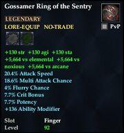 Gossamer Ring of the Sentry