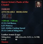 Forest Scion's Pants of the Citadel