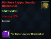 War Rune Recipe- Oracular Illumination