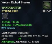 Woven Etched Bracers