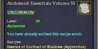 Alchemist Essentials Volume 33