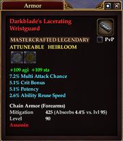 Darkblade's Lacerating Wristguard