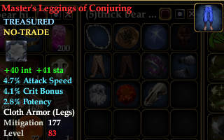Master's Leggings of Conjuring