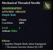 Mechanical Threaded Needle