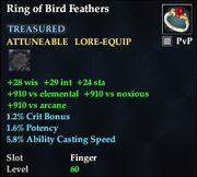 Ring of Bird Feathers
