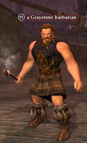 A Graystone barbarian