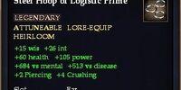 Steel Hoop of Logistic Prime