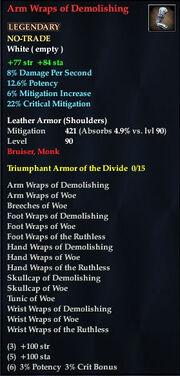 Arm Wraps of Demolishing