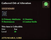 Gathered Orb of Alteration