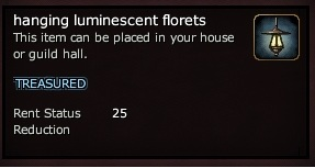 Hanging luminescent florets