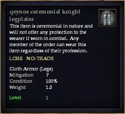 Qeynos ceremonial knight legplates