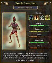 Tomb Guardian arena stats