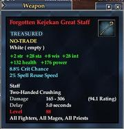 Forgotten Kejekan Great Staff