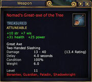 Nomad's Great-axe of the Tree