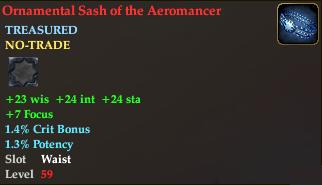 Ornamental Sash of the Aeromancer
