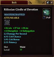 Rilissian Girdle of Devotion