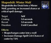 Shapeshift Winter Wolf
